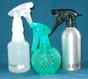 spray bottles from the beauty supply store